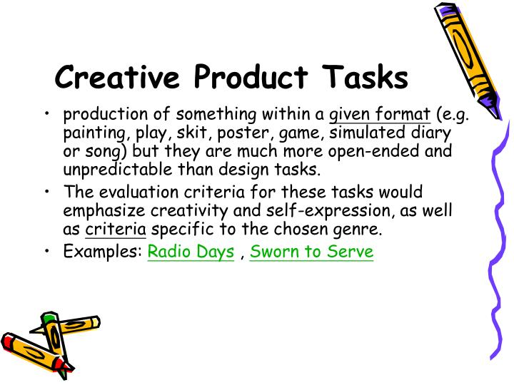 Creative Product Tasks