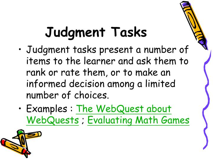 Judgment Tasks