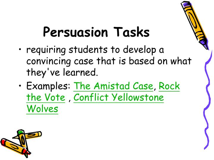 Persuasion Tasks
