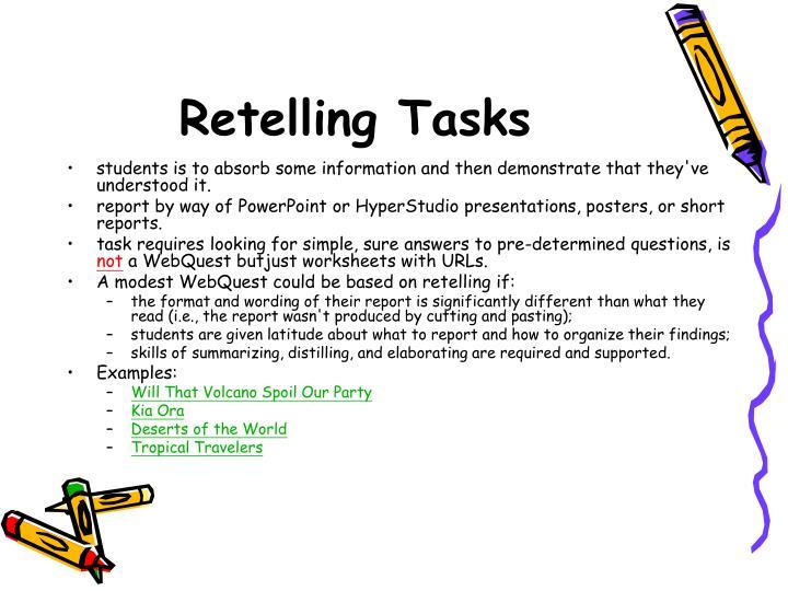 Retelling Tasks