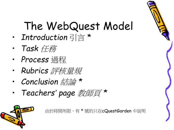 The webquest model