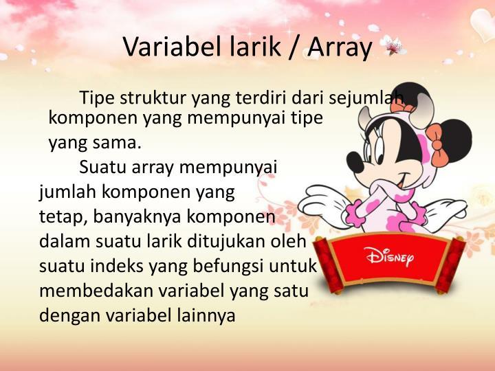 Variabel larik / Array