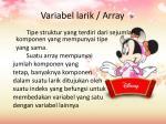 variabel larik array
