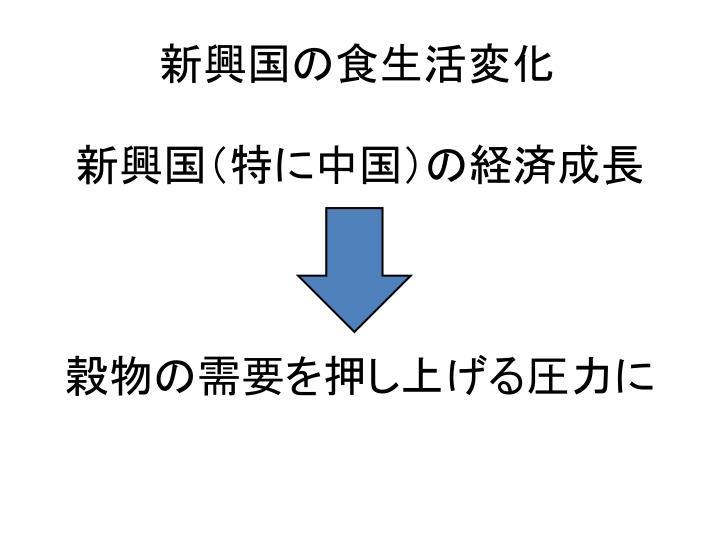 新興国(特に中国)の経済成長