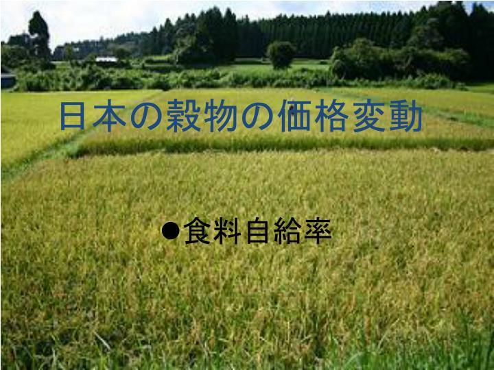 日本の穀物の価格変動