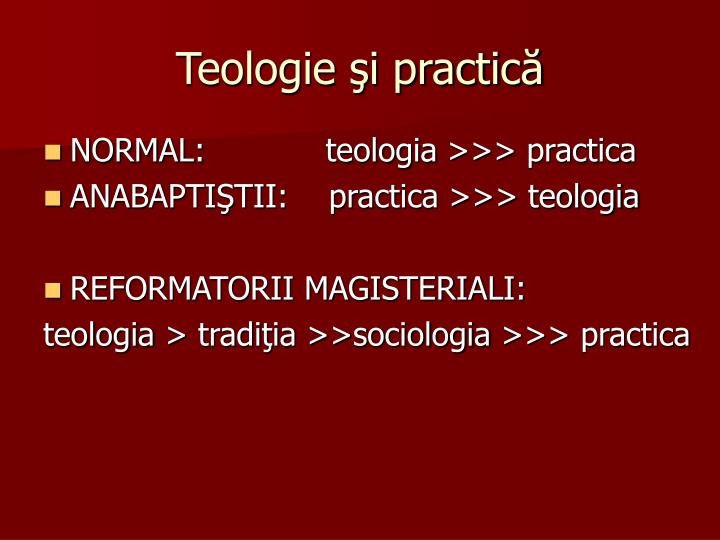 Teologie şi practică