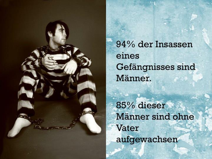 94% der Insassen eines Gefängnisses sind Männer.