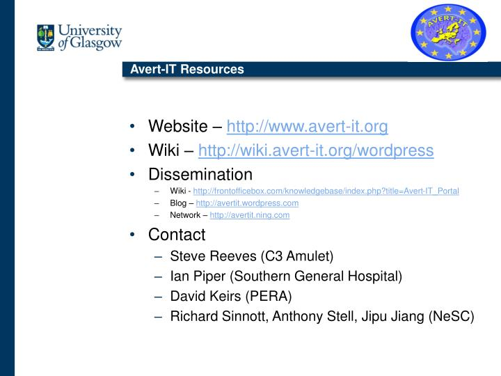 Avert-IT Resources