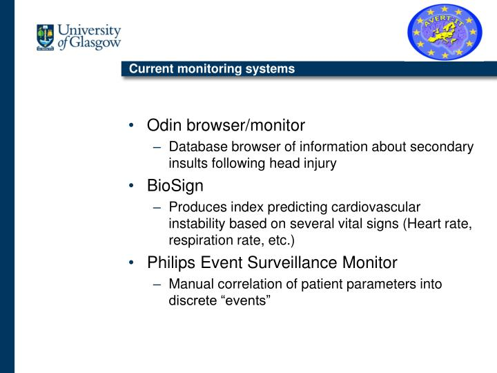 Current monitoring systems