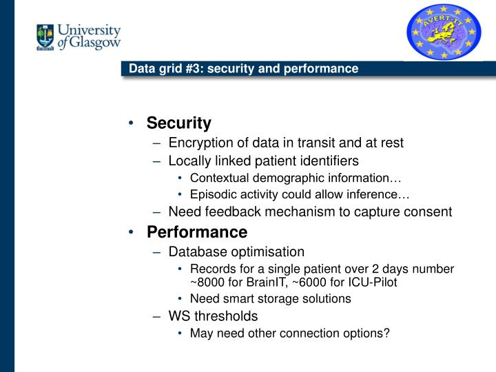 Data grid #3: security and performance