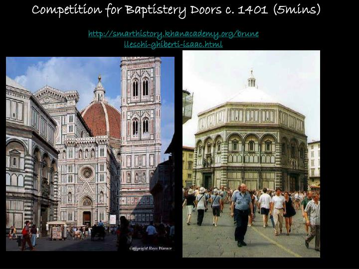 Competition for Baptistery Doors c. 1401 (5mins)
