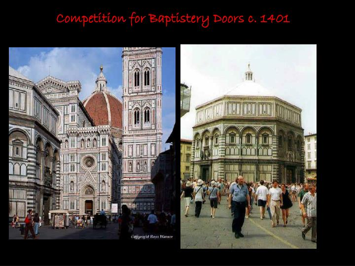 Competition for Baptistery Doors c. 1401