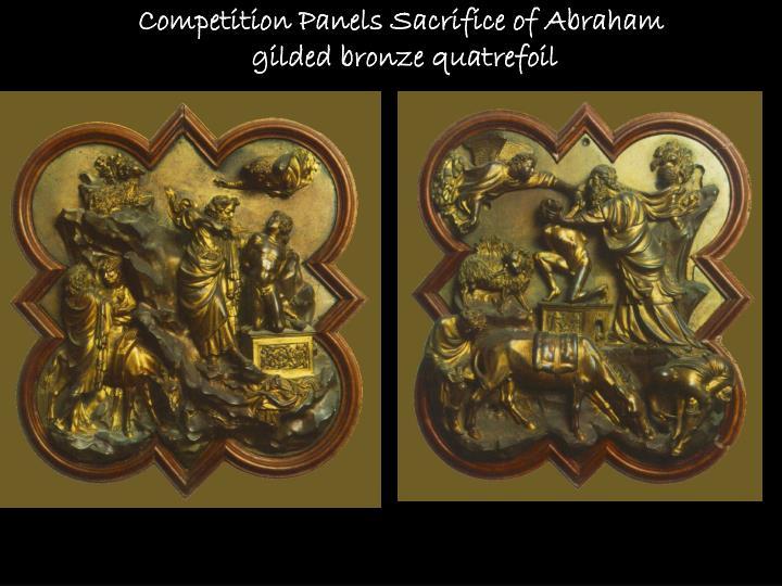 Competition Panels Sacrifice of Abraham