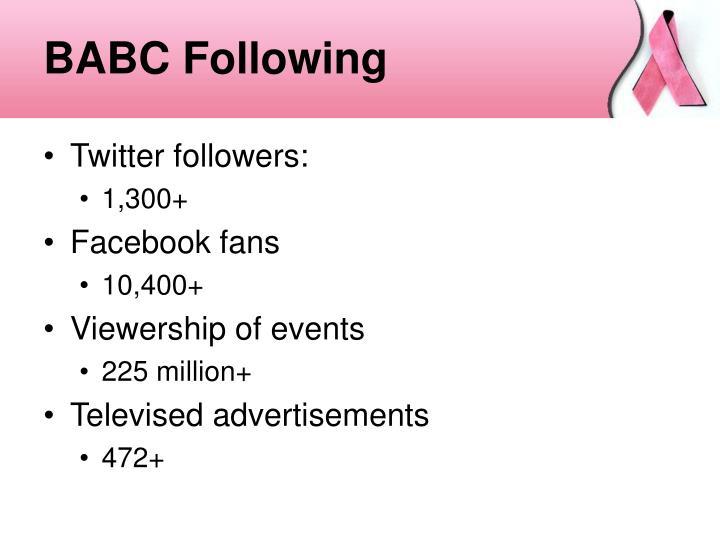 BABC Following