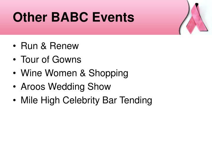 Other BABC Events