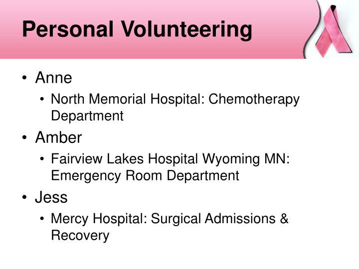 Personal Volunteering