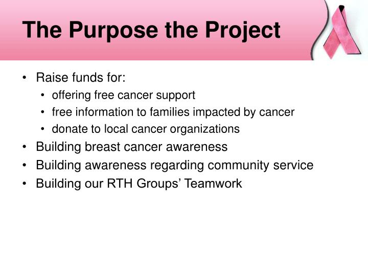 The Purpose the Project