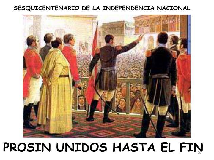 SESQUICENTENARIO DE LA INDEPENDENCIA NACIONAL