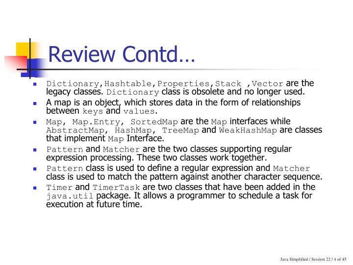 Review Contd…