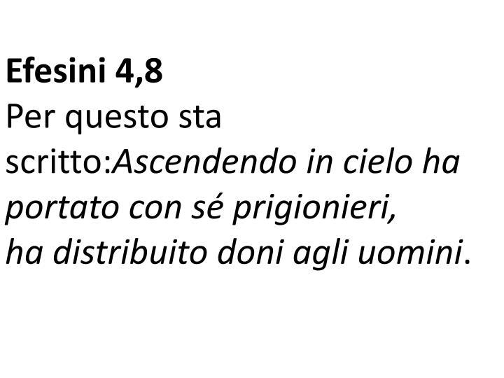Efesini 4,8