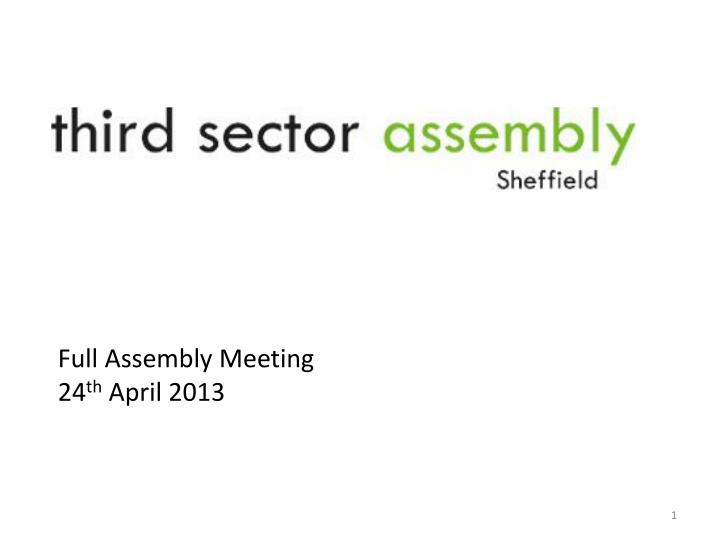 Full Assembly Meeting