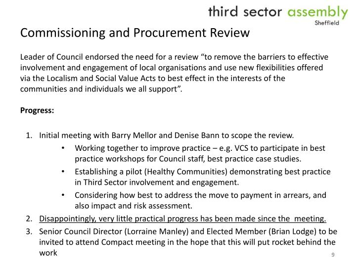 Commissioning and Procurement Review