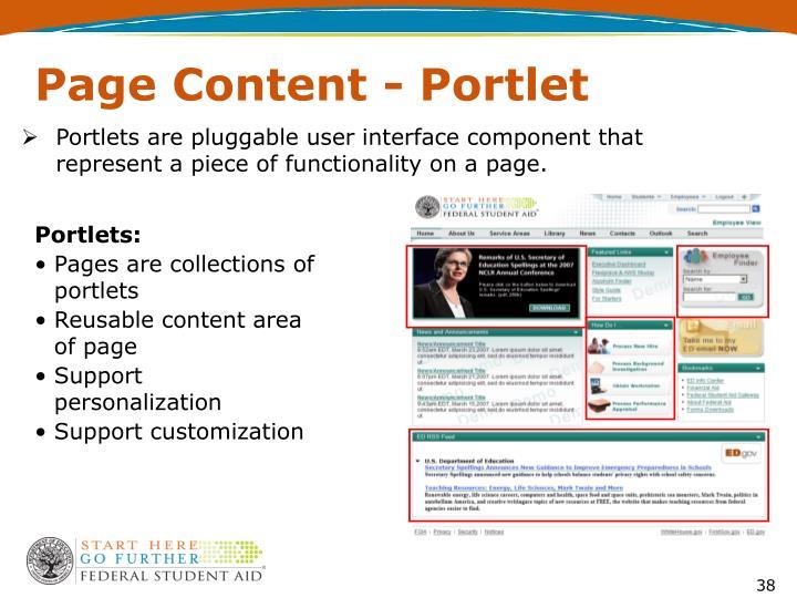 Page Content - Portlet