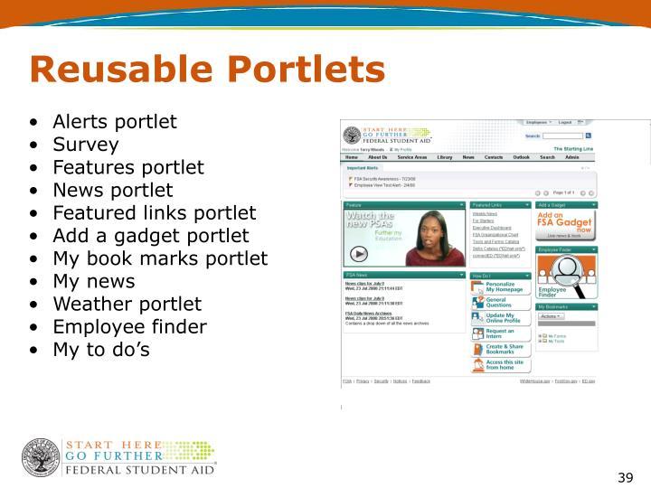 Reusable Portlets
