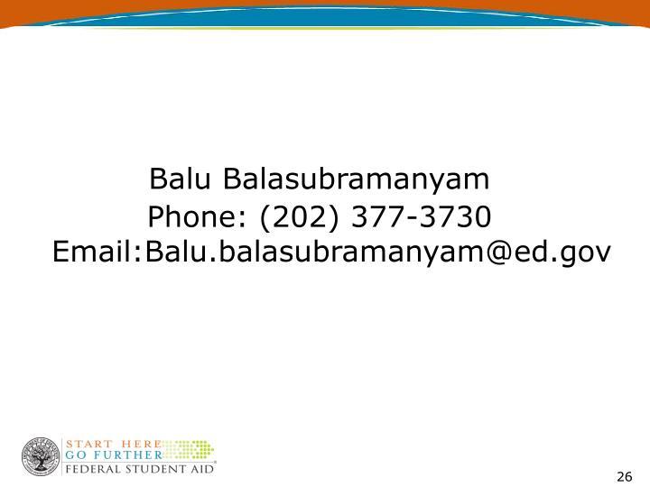 Balu Balasubramanyam