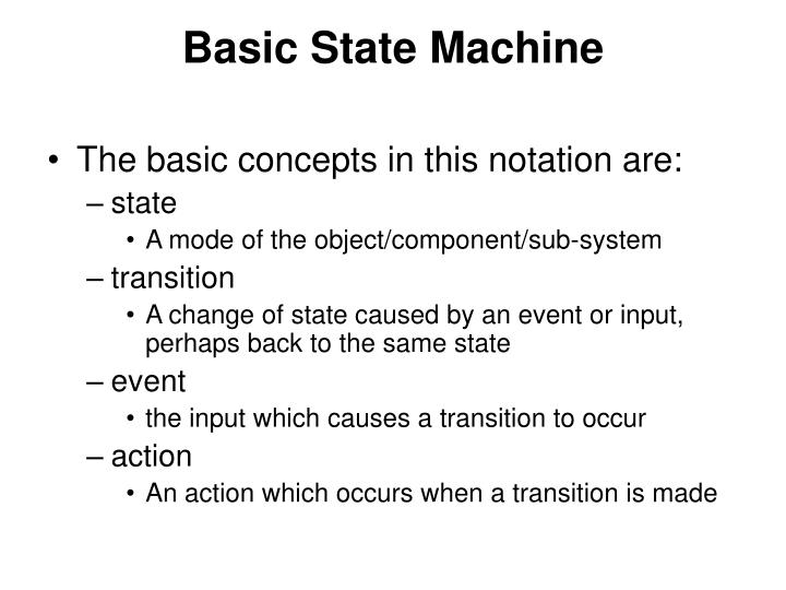 Basic State Machine