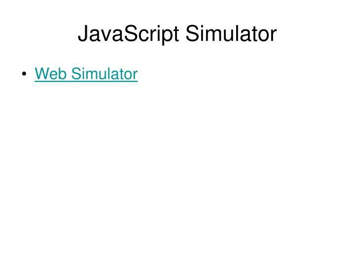 JavaScript Simulator