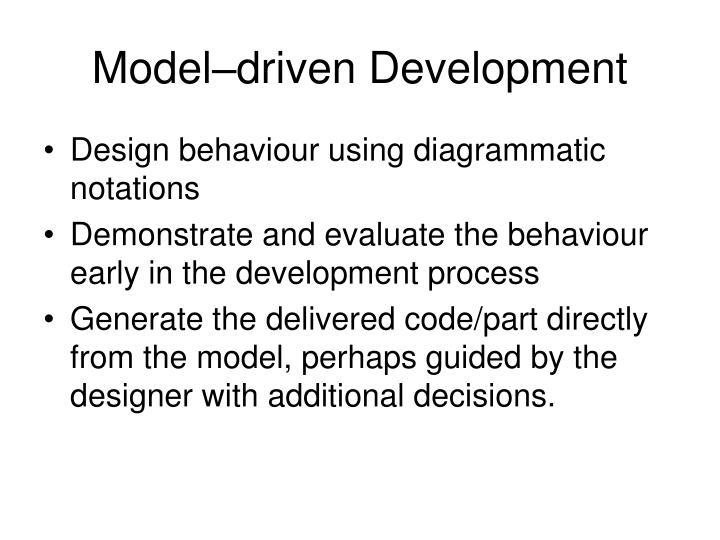 Model–driven Development