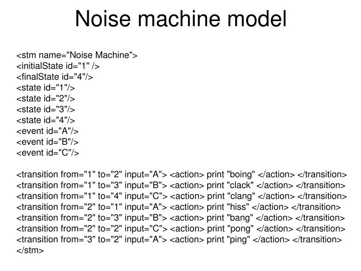Noise machine model