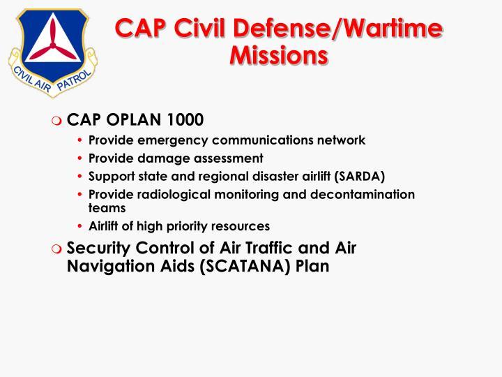 CAP Civil Defense/Wartime Missions