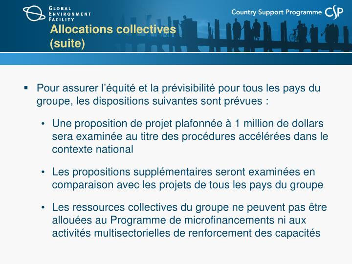 Allocations collectives