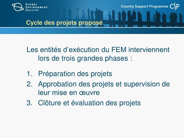 Cycle des projets proposé