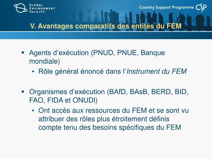 V. Avantages comparatifs des entités du FEM