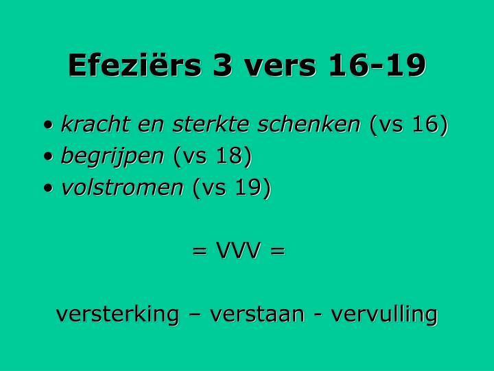 Efeziërs 3 vers 16-19