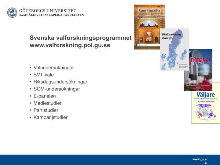 Svenska valforskningsprogrammet