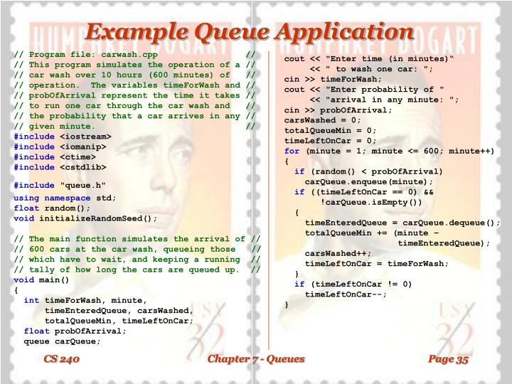 Example Queue Application