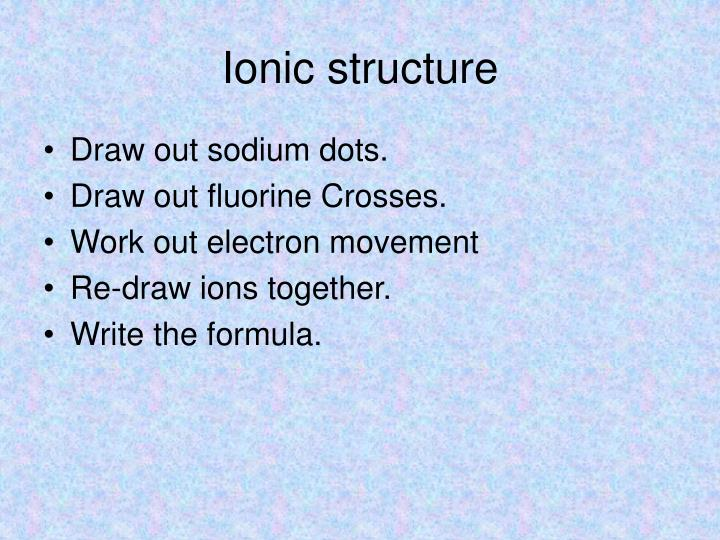 Ionic structure