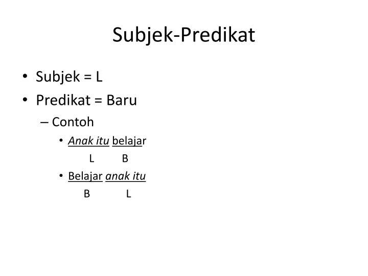 Subjek-Predikat