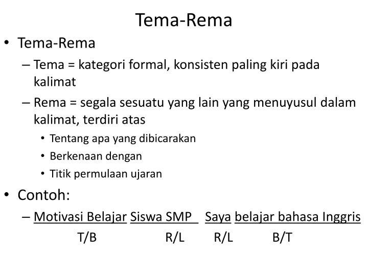 Tema-Rema