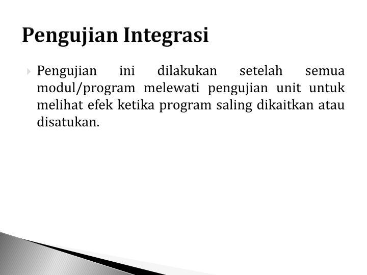 Pengujian Integrasi