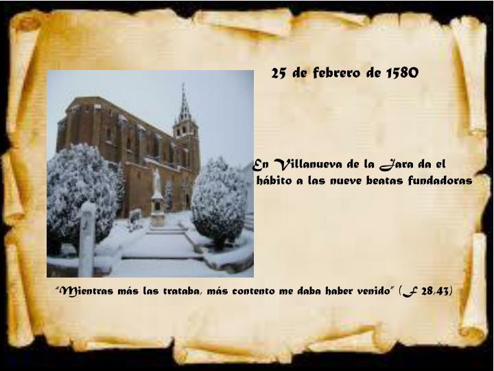 25 de febrero de 1580