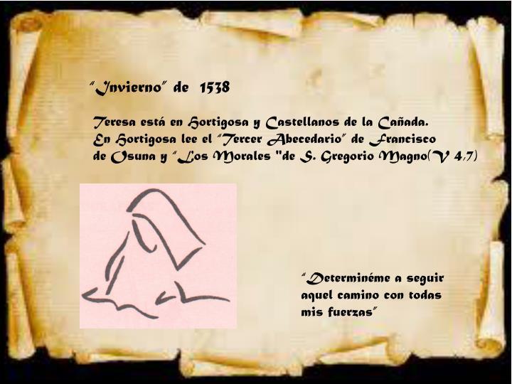 """""""Invierno"""" de  1538"""