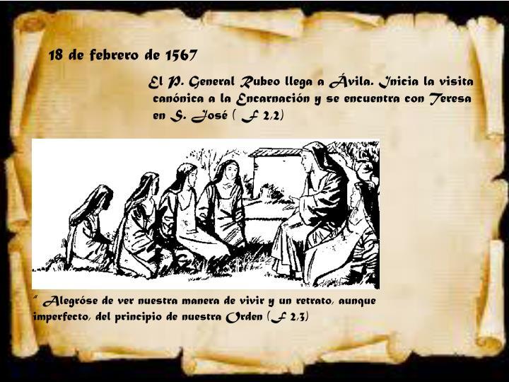 18 de febrero de 1567