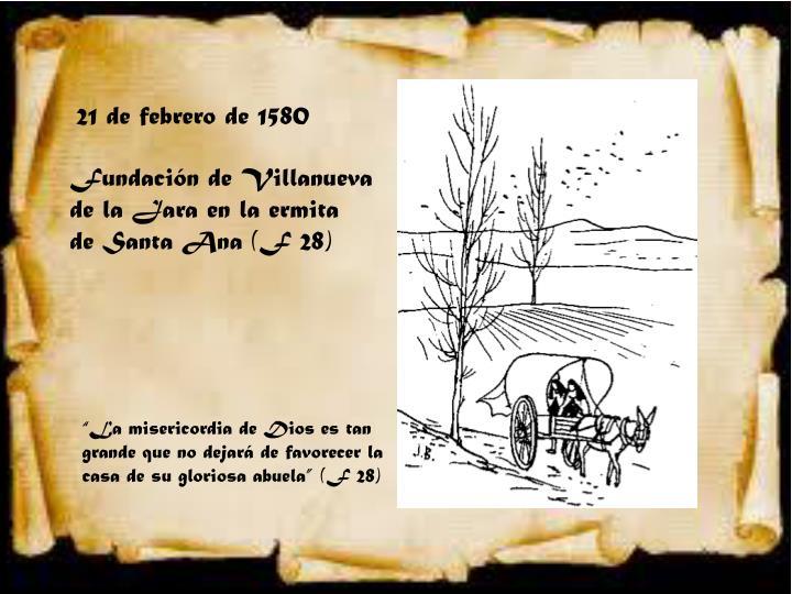 21 de febrero de 1580