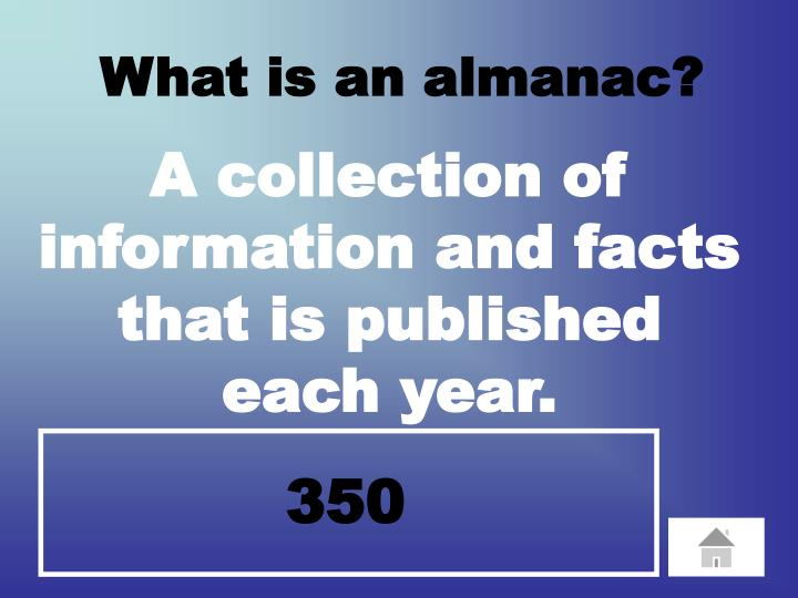 What is an almanac?