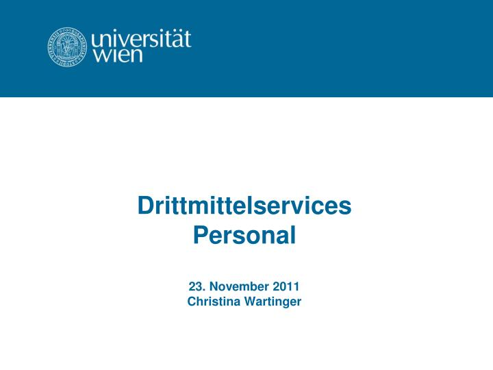Drittmittelservices